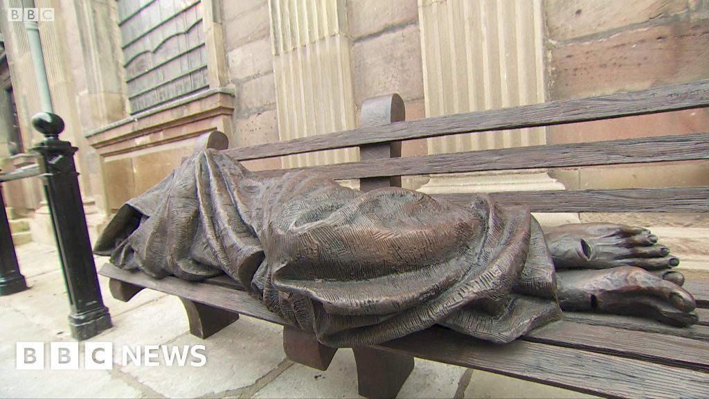 Homeless Jesus Christ Sculpture Unveiled In Manchester