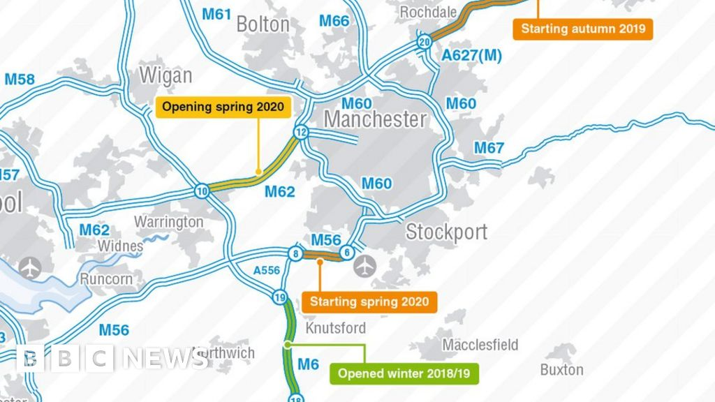 Map Of England Knutsford.M6 And M56 Roadworks Delayed To Benefit Drivers Bbc News