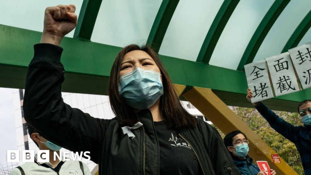 Hong Kong hospital strike over virus border fears