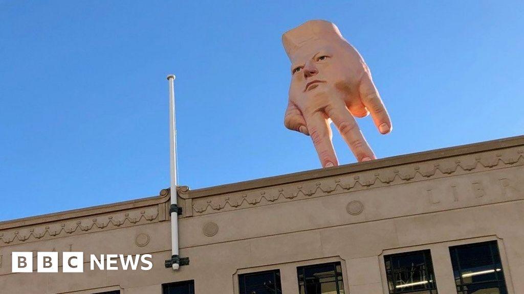 'Nightmare' hand statue looms over New Zealand city