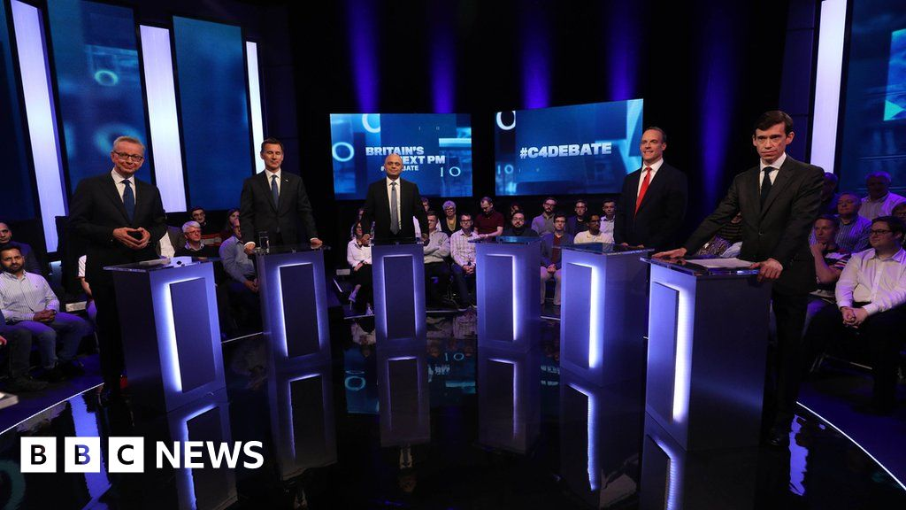 Moments from the Tory leadership TV debate
