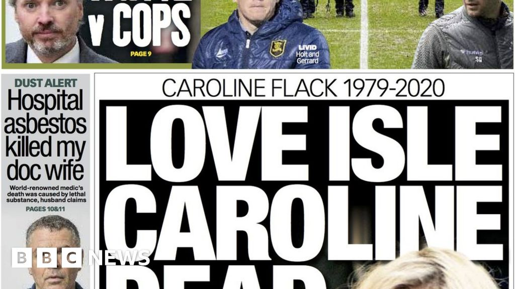 Caroline Flack death and COP26 security breach