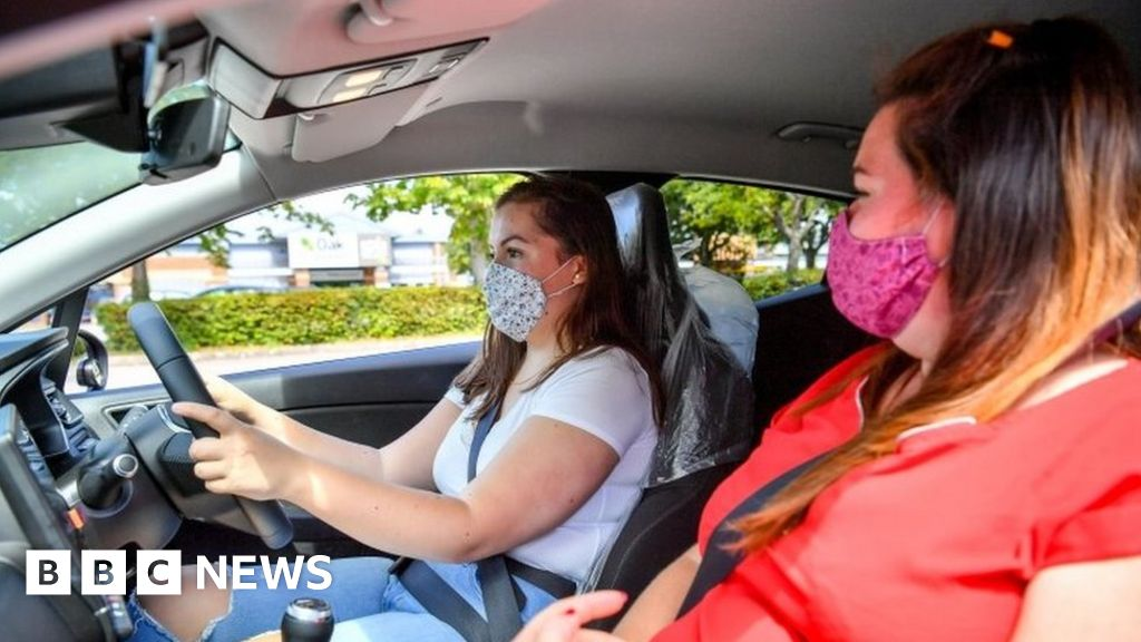 Driving test website crashes as bookings resume in England and Wales