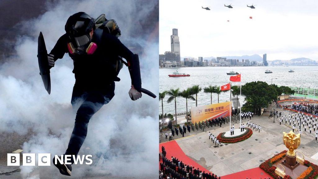 China National Day: Hong Kong peace 'is an illusion'