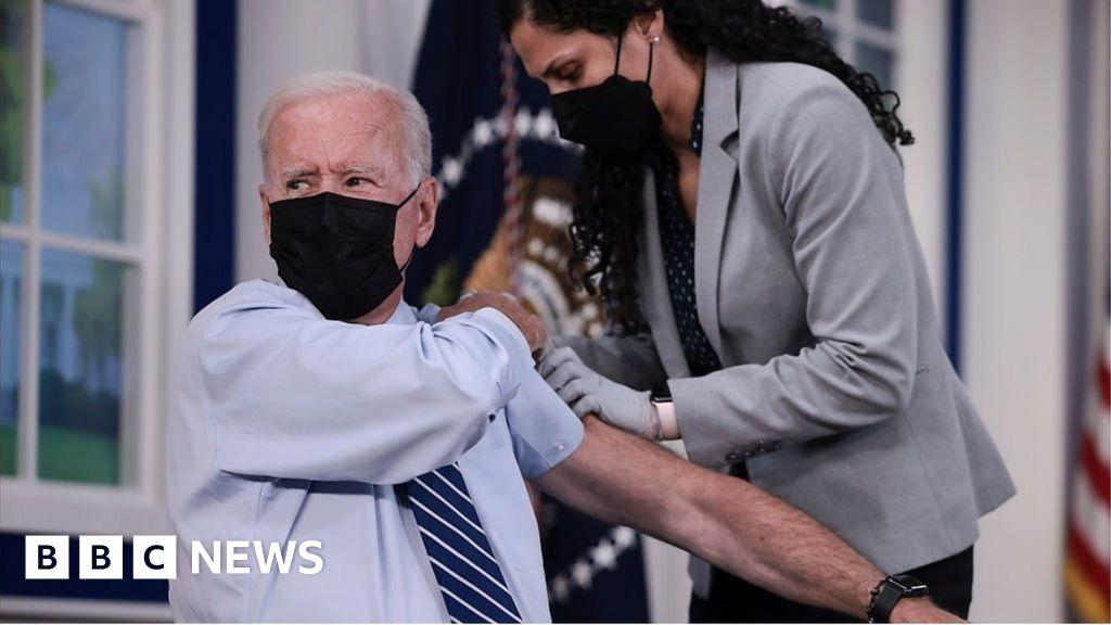 President Biden rolls up sleeve for Covid booster