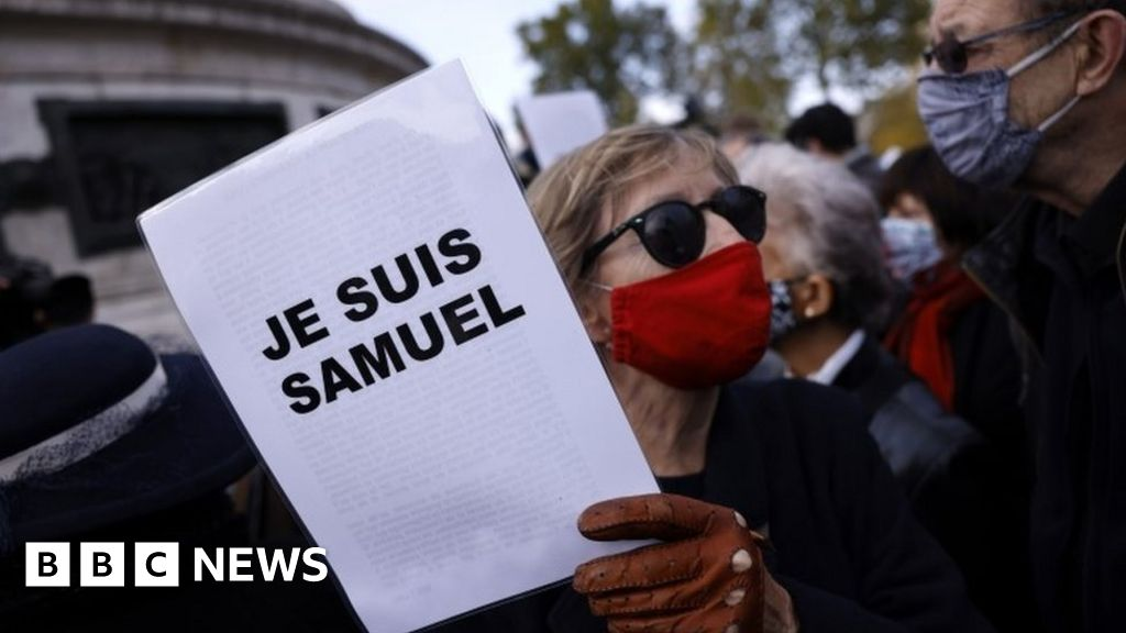 France teacher attack: Rallies held to support beheaded Samuel Paty