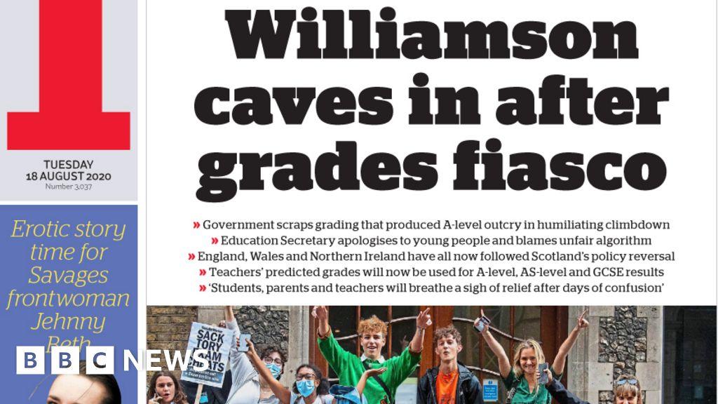 Newspaper headlines: Exams U-turn after 'Williamson caves in'