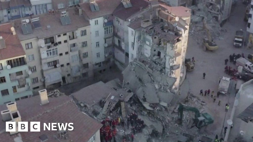 Turkey earthquake: At least 20 dead as buildings collapse - bbc