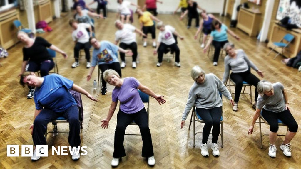 Image of a female fitness class