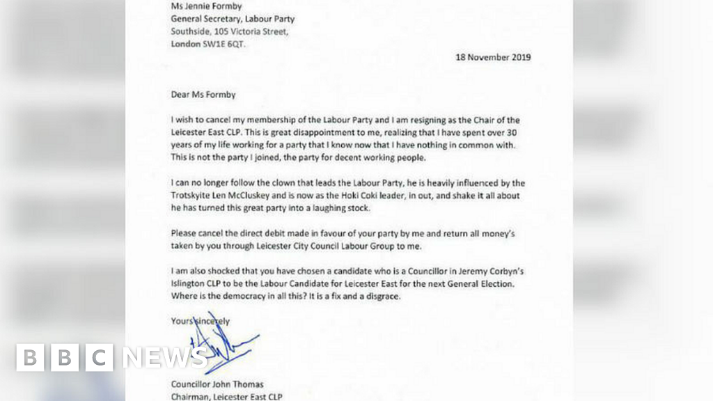 Labour local party boss quits, blasting Corbyn