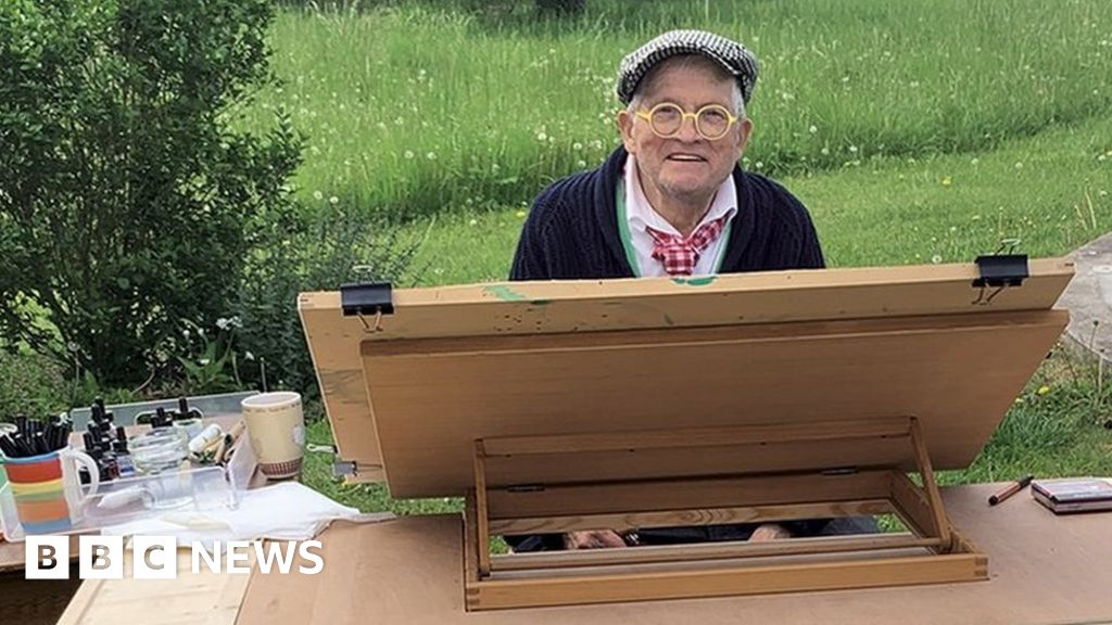 David Hockney shares exclusive art from Normandy, as 'a respite from the news'