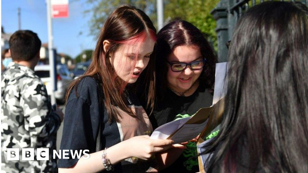 Pupils get record GCSE grades as BTecs are pulled
