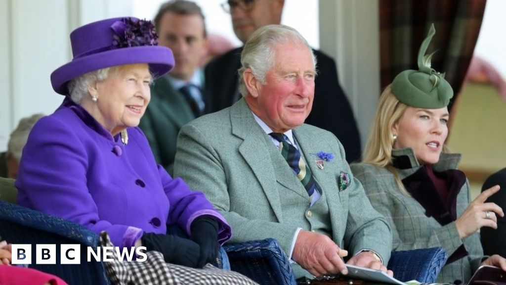 The Queen and Prince Charles attend Braemar Gathering