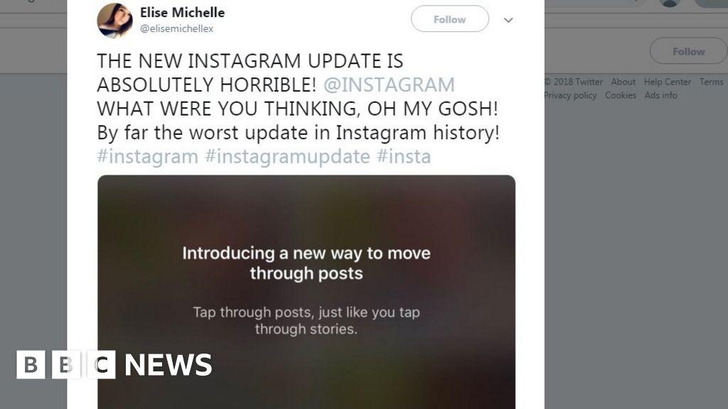 Outcry as Instagram Tries Horizontal Scrolling
