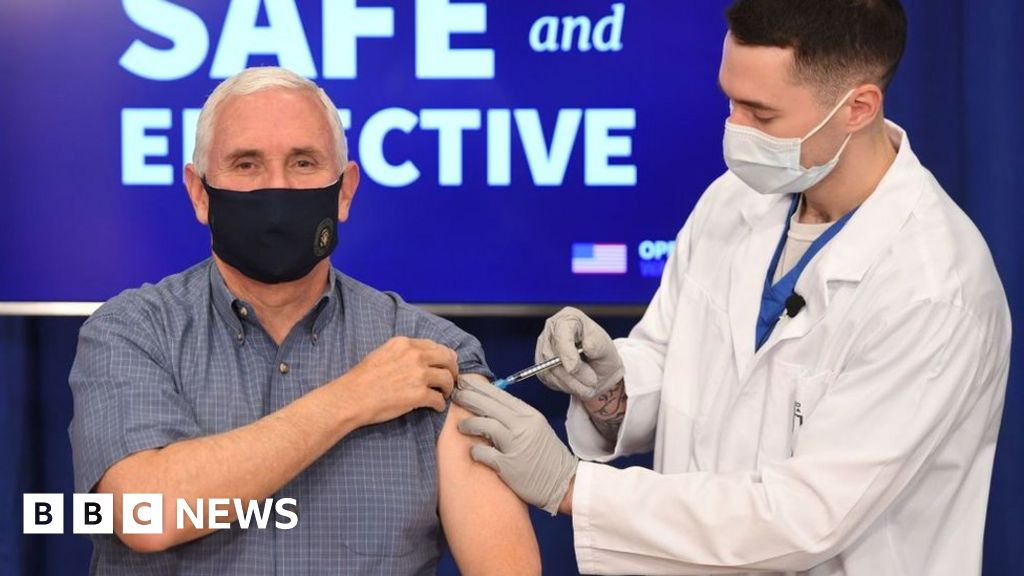 Covid: US Vice-President Mike Pence receives vaccine live on TV