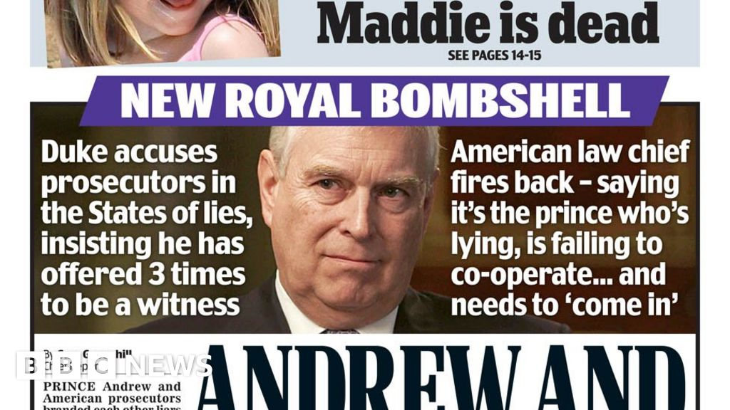 "Headlines: Prince Andrew and US ""in the war"" about Epstein s request"