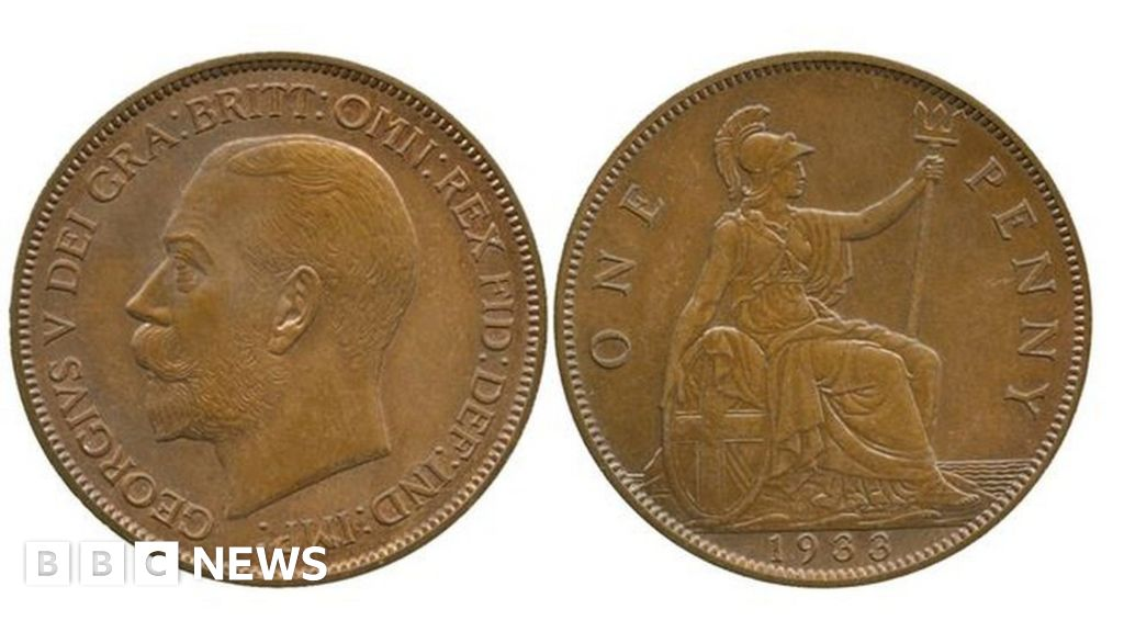 Rare 1933 penny sells for £72,000 - BBC News