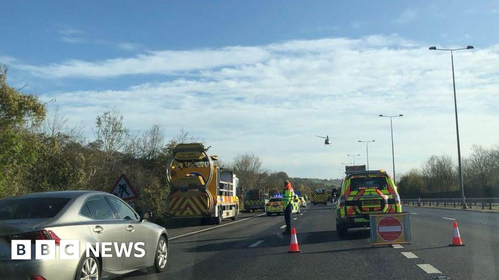 M23 crash: Vintage car rally driver dies in lorry crash