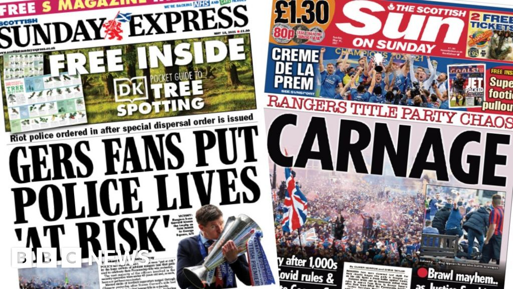 Scotland's papers: Rangers crowd 'chaos' and nuclear safety alerts