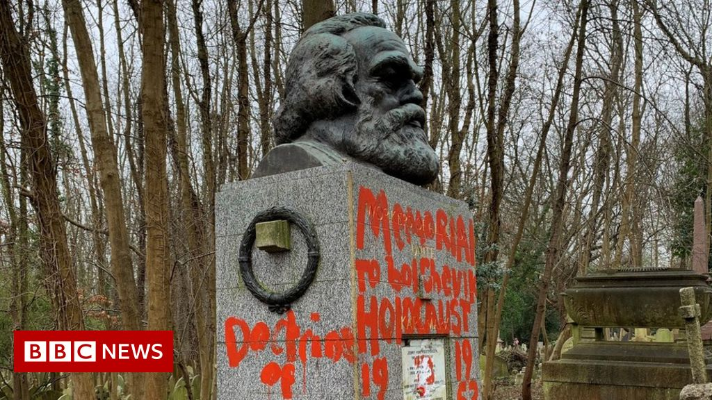 Karl Marx monument vandalised again