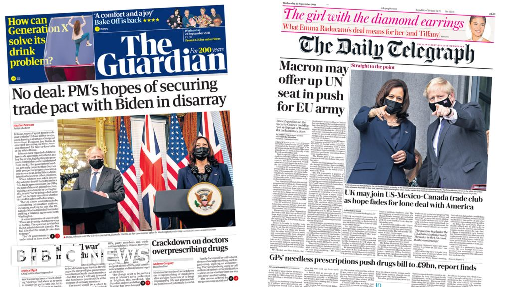 Newspaper headlines: UK-US trade deal speculation and energy bill fears