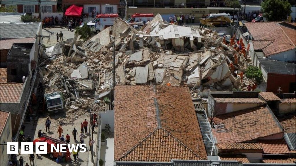 Brazil building collapse: Race on to find the missing