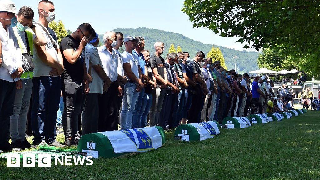 Srebrenica: Scaled-back ceremony marks 25 years since massacre