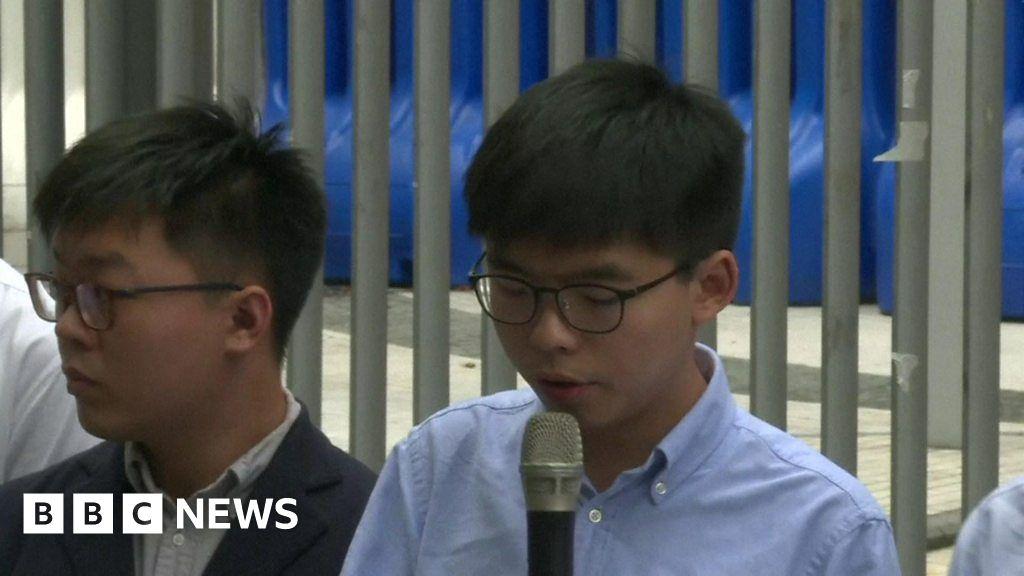Hong Kong: Joshua Wong calls his election ban 'politically driven'