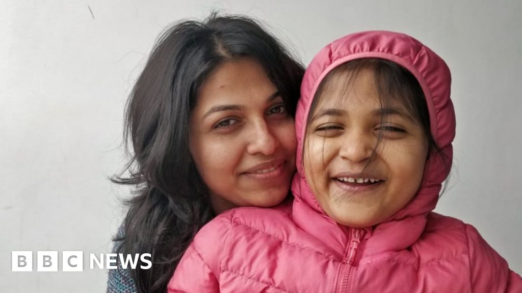 India Covid pandemic: Girl, 5, reunited with mother in Australia