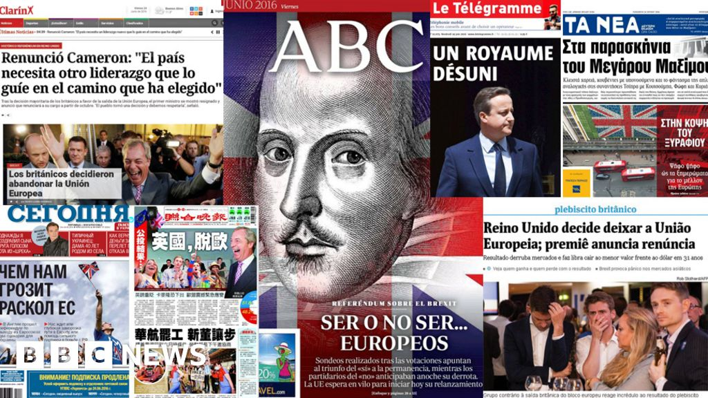 Brexit News: Brexit: What The World's Papers Say