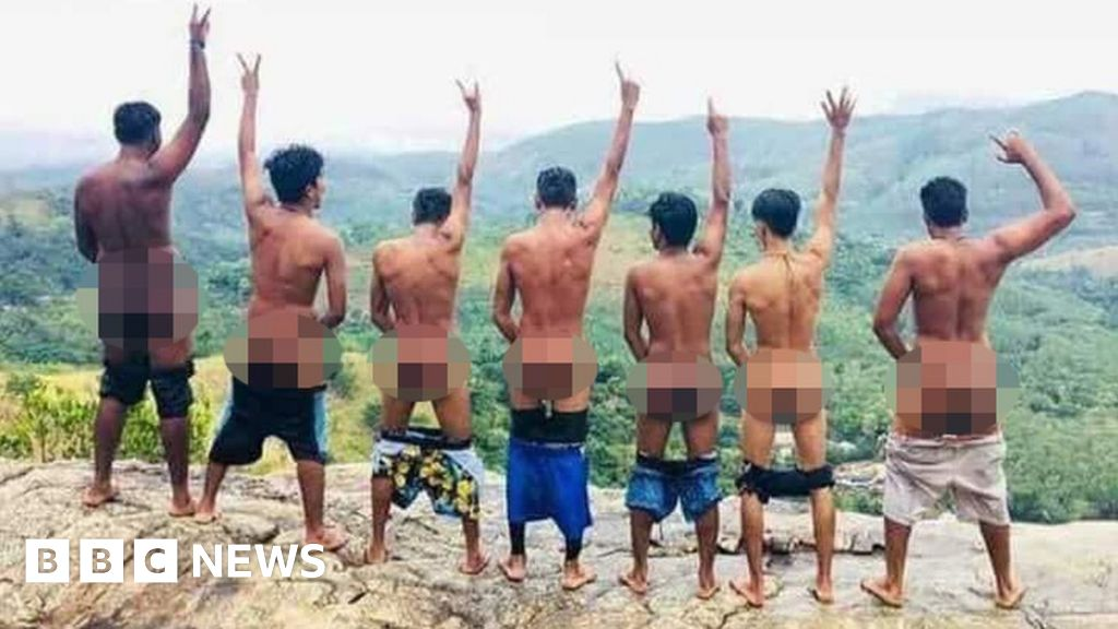 Bare bums stir trouble at sacred site