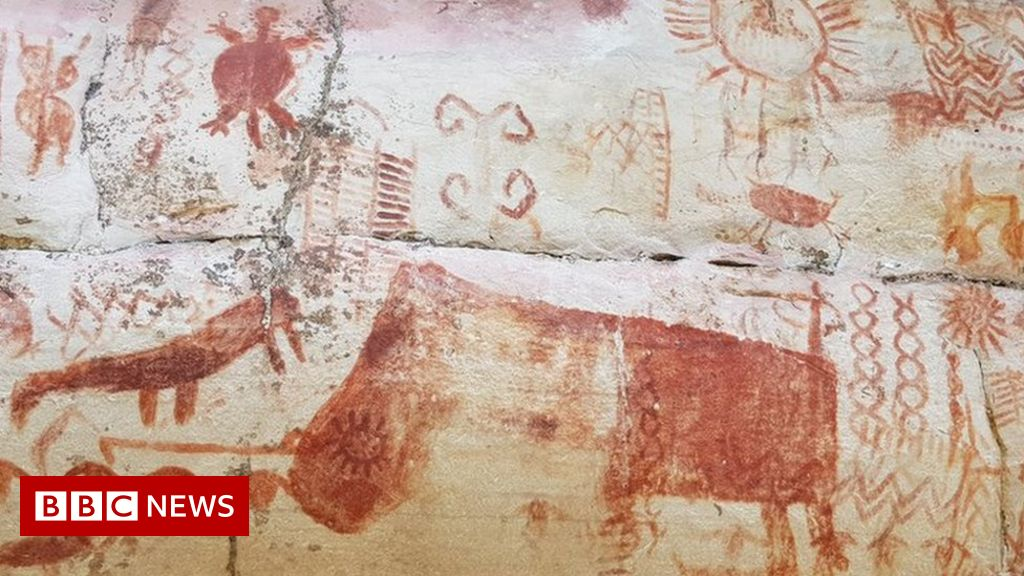 Amazon rainforest rock art depicts giant Ice Age creatures