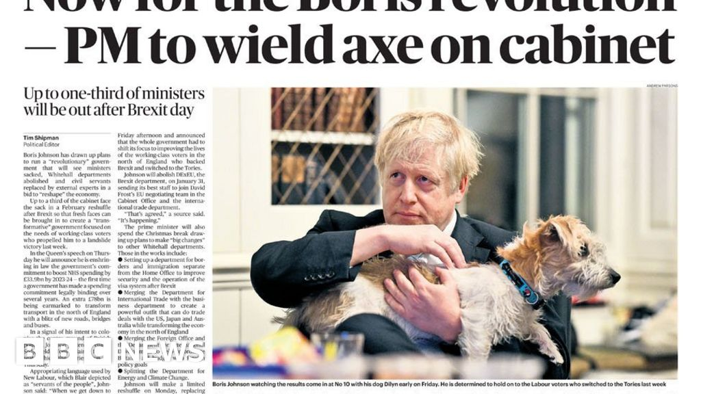 The Papers: PM s  Whitehall revolution  after election win