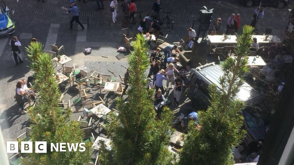 Three dead as van drives into German crowd