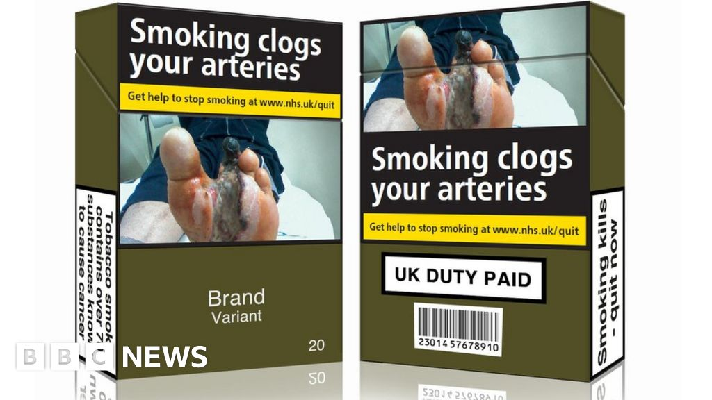 Plain tobacco packaging 'may cut smokers by 300,000 in UK' - BBC News