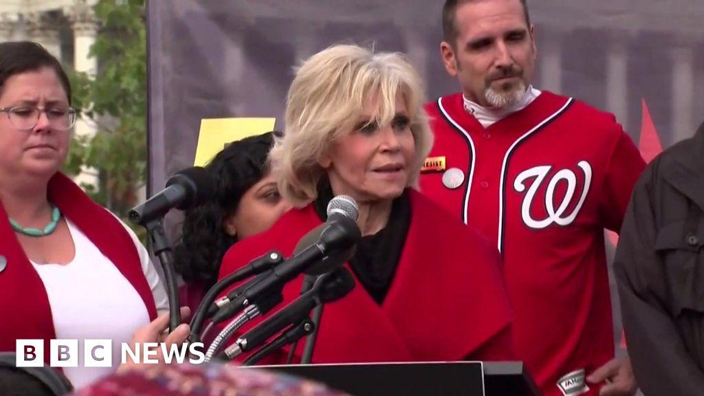 Jane Fonda  inspired by Greta Thunberg