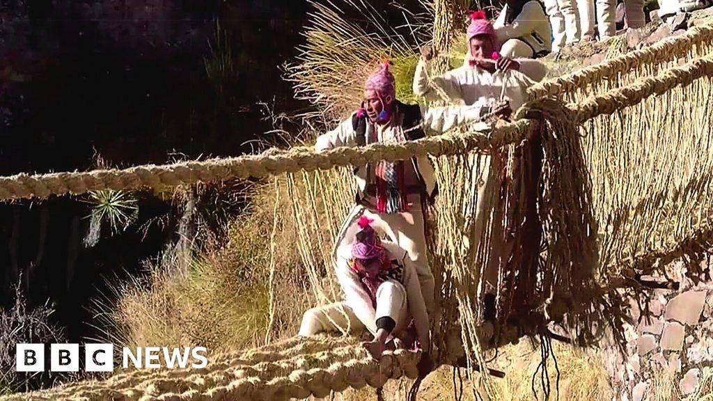 "The Peruvians wove the Incan ""bridge of life"" over the river"