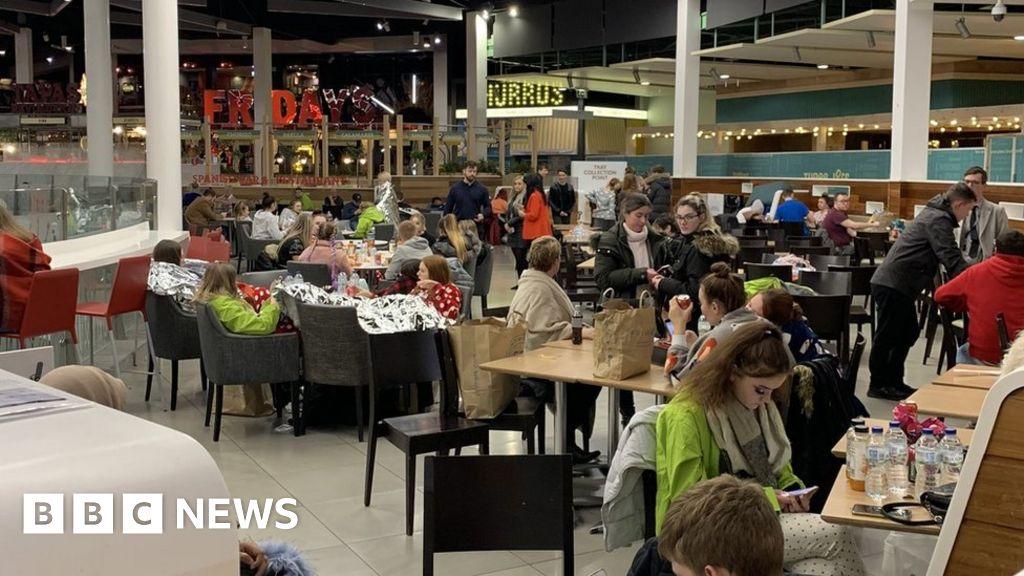 UK flooding: Dozens spend night in Sheffield shopping centre