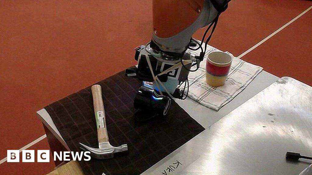 Robot taught to 'feel' objects by sight and other news
