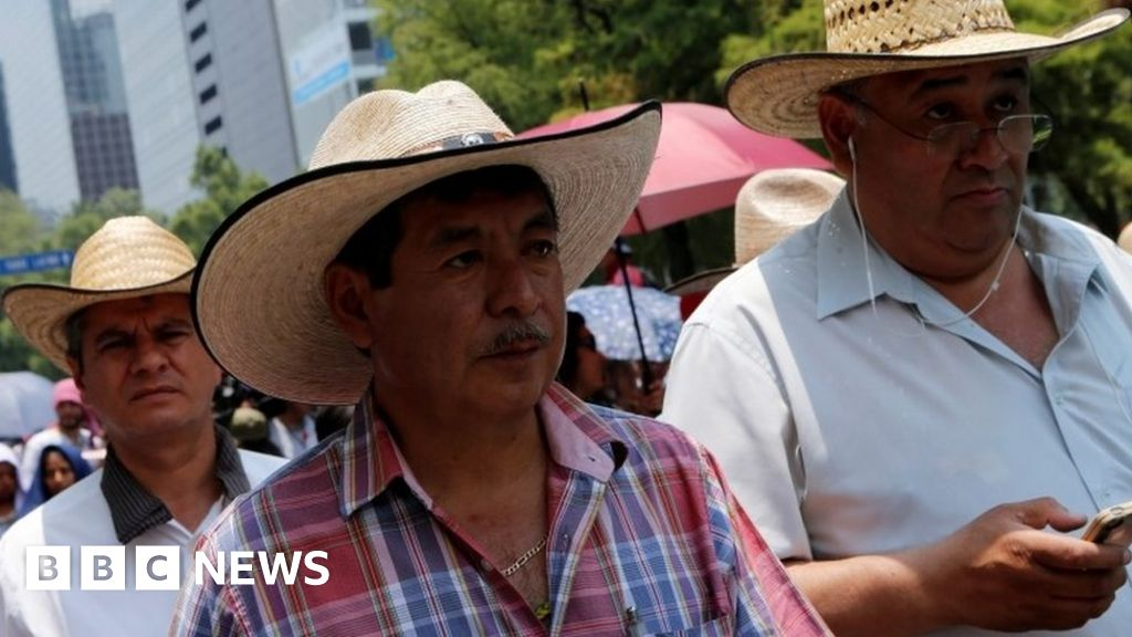 Mexico protests over Oaxaca teachers' leader arrest - BBC News