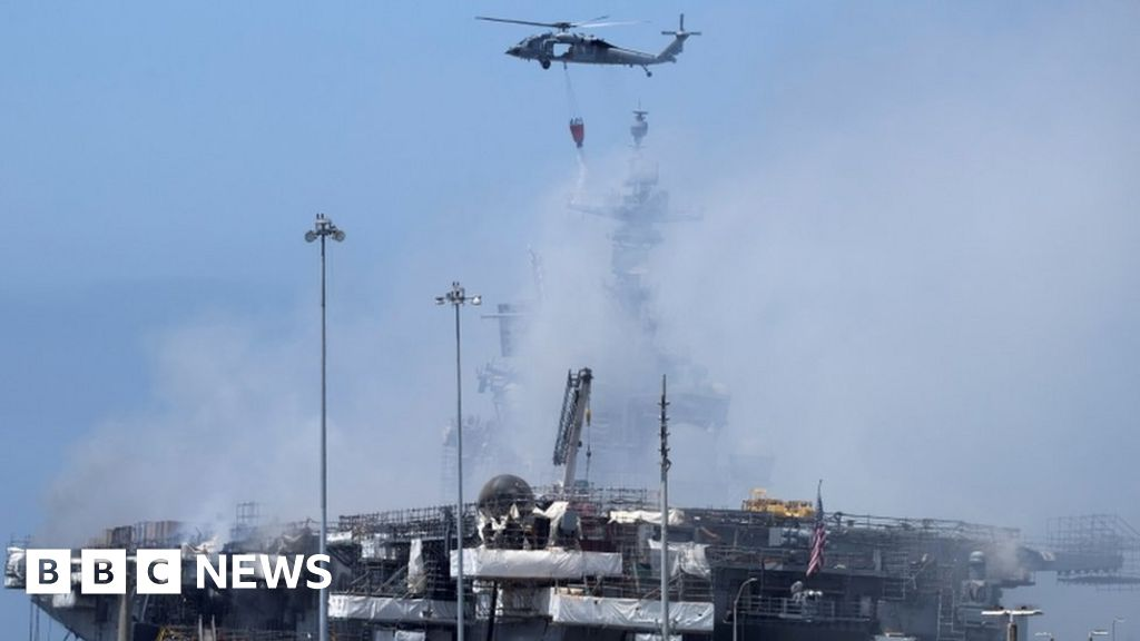 US sailor charged over massive USS Bonhomme warship blaze in 2020