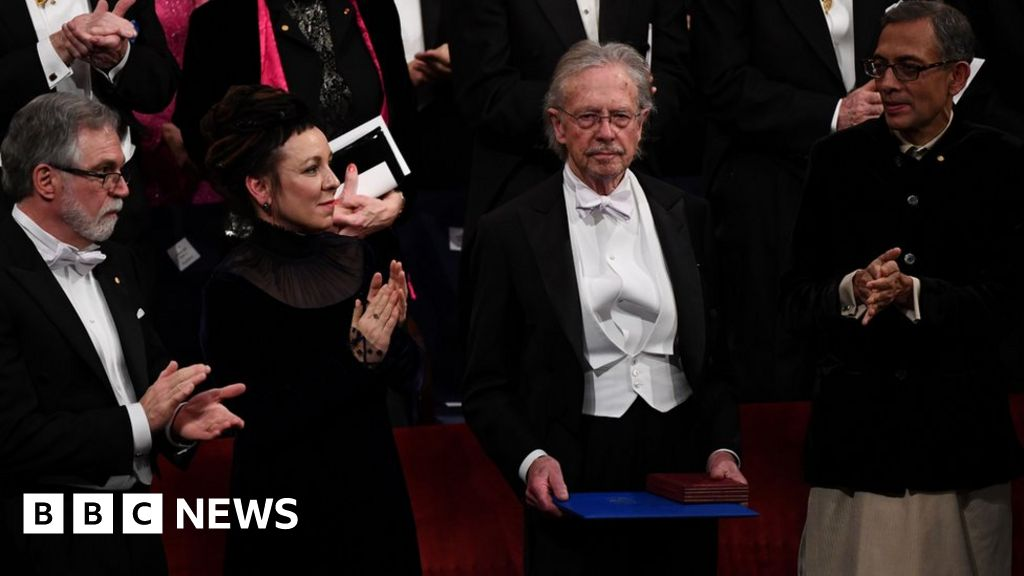 Peter Handke at the Nobel Prize ceremony