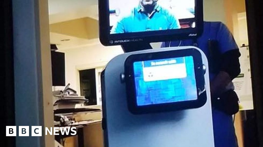 Doctor tells man he's dying via video robot thumbnail