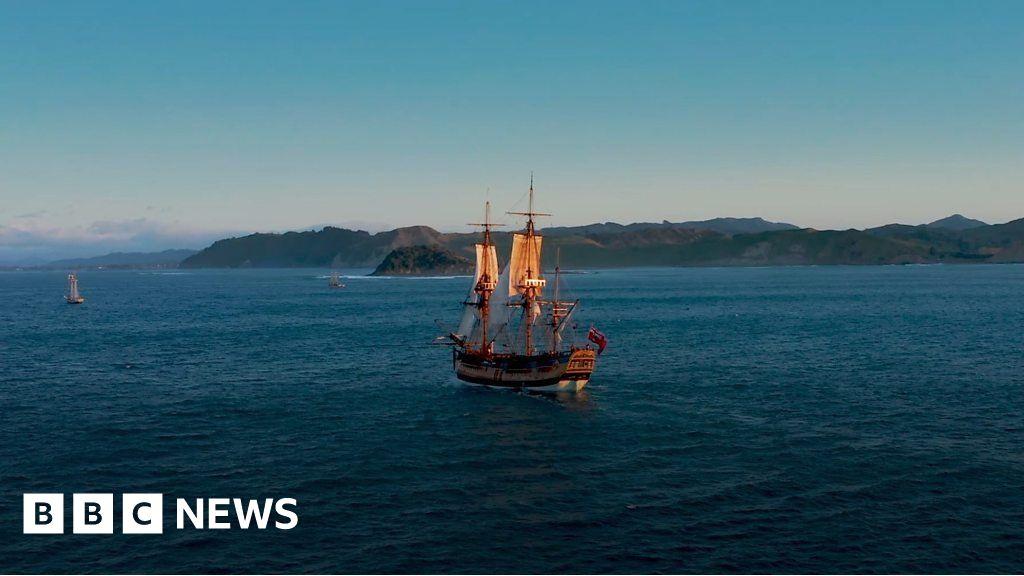 HMS Endeavour replica sails into New Zealand