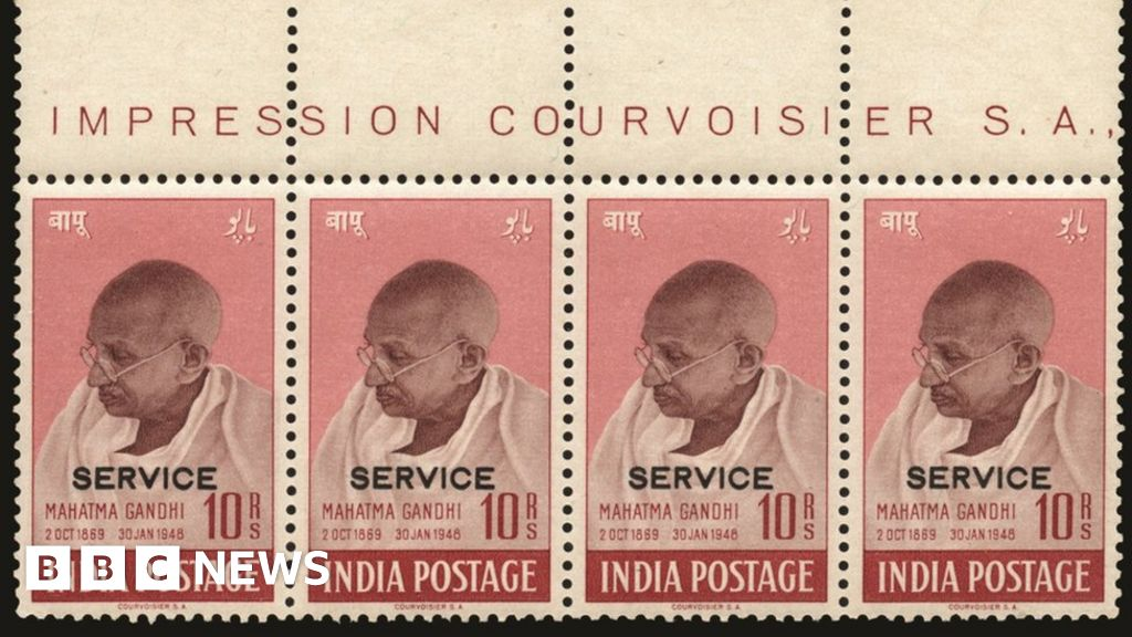 Gandhi stamps sell for £500,000 - BBC News