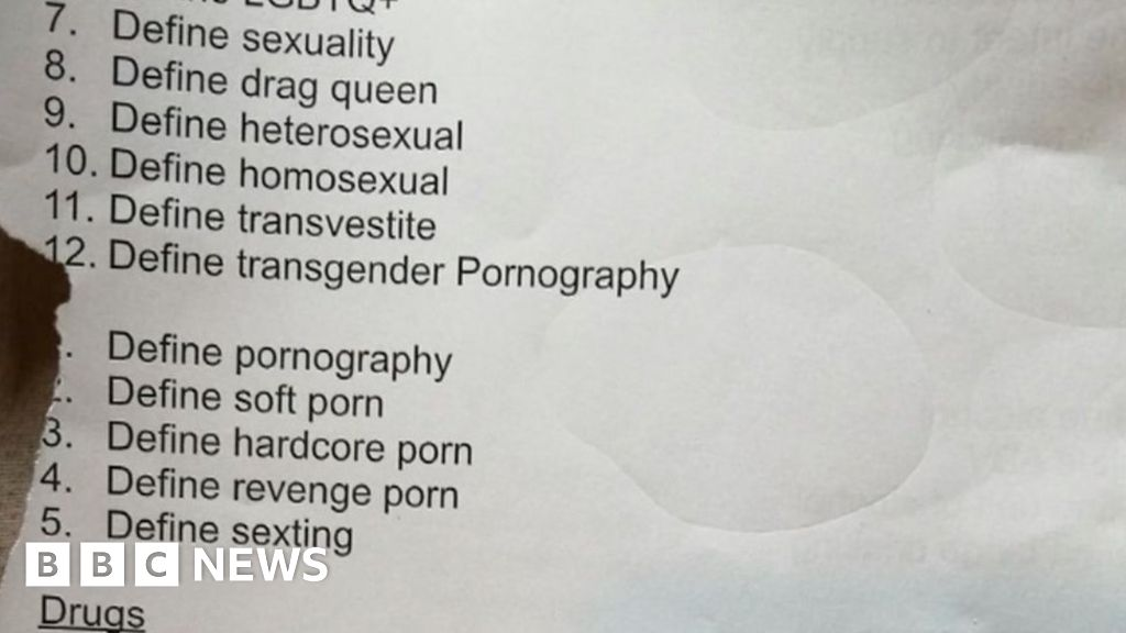 School 'sorry' over porn definition work confusion