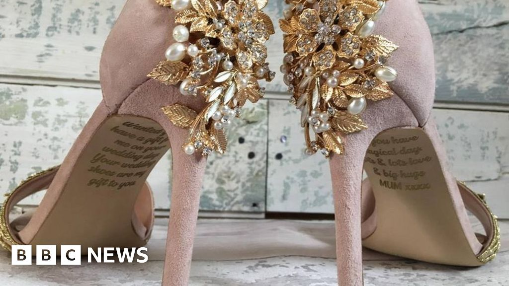 d7eb6968bbb1 Dying mum s secret message on daughter s wedding shoes - BBC News