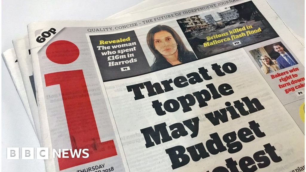 Publisher of the 'i' newspaper sets out rescue plan