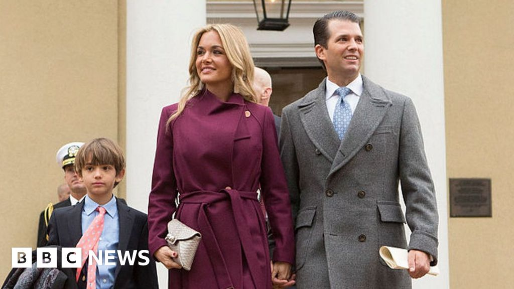 Donald Trump Jr's wife taken to hospital