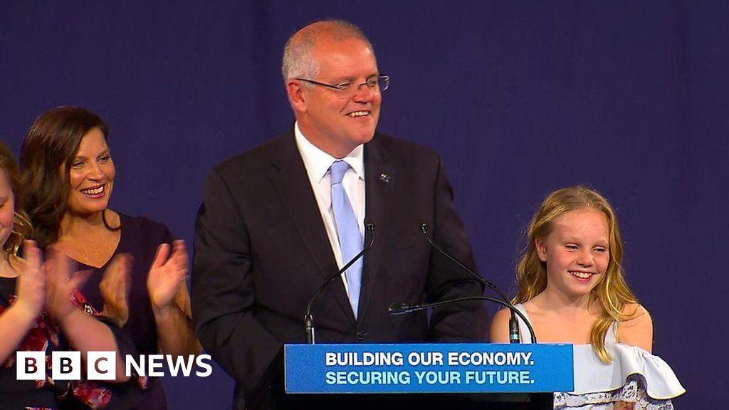 2019 Australia election: Scott Morrison makes victory speech